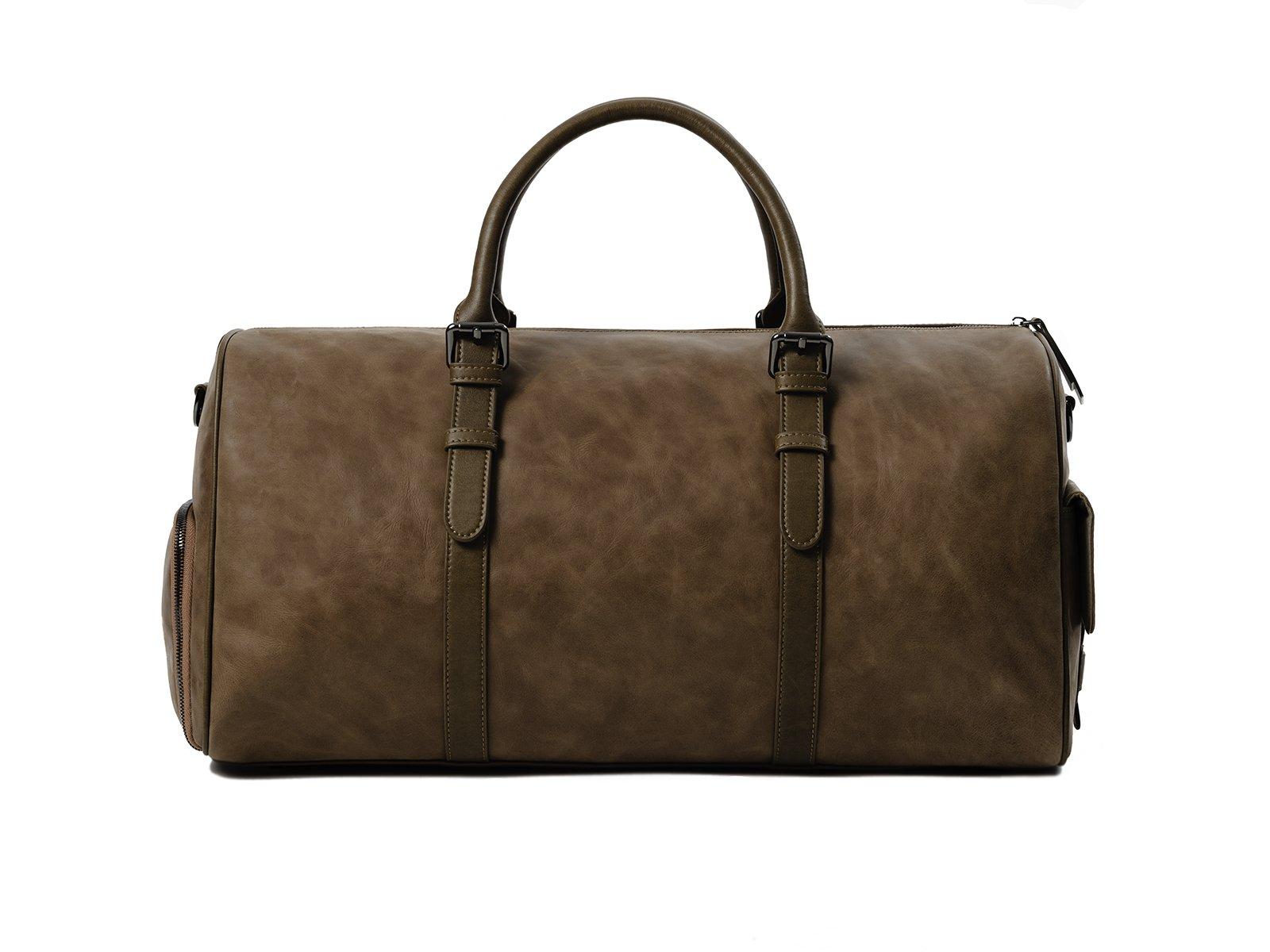kingsman tan leather duffle bag