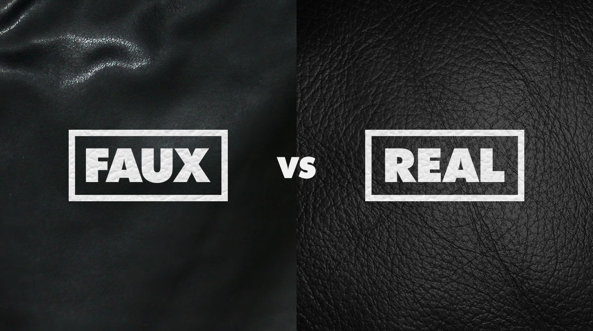 real vs fake leather